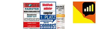 congstar – Mobilfunkanbieter des Jahres 2016