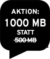 1000 MB Datenvolumen